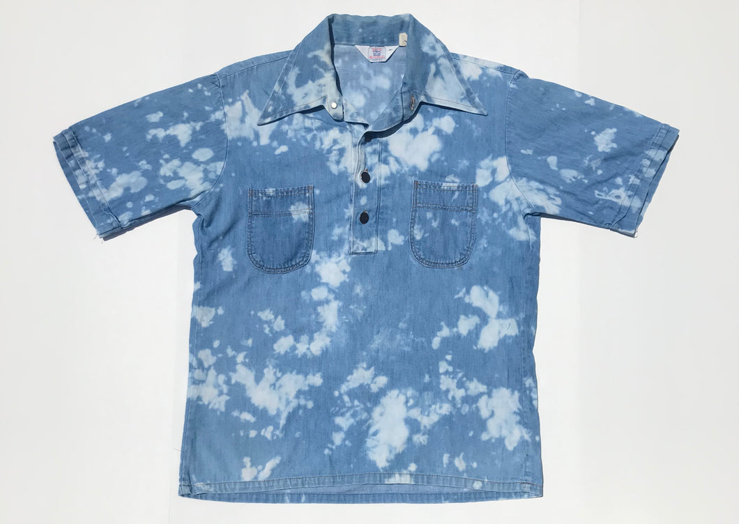 1990's Bleach Dyed Denim Shirt