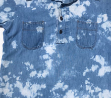 Load image into Gallery viewer, 1990's Bleach Dyed Denim Shirt