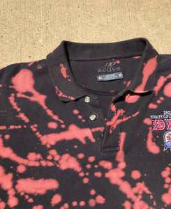 Hand Bleached 2002 Stanley Cup Red Wings Polo