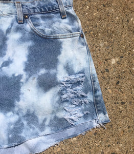 Custom Cut and Bleach Dyed Vintage Levi's Shorts