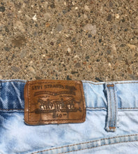 Load image into Gallery viewer, Custom Cut and Bleach Dyed Vintage Levi's Shorts