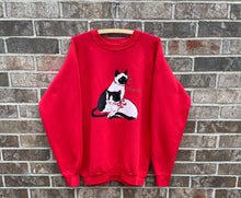 Load image into Gallery viewer, 1980's Cat Crewneck
