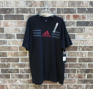 Custom Bleach Dyed Adidas T-Shirt