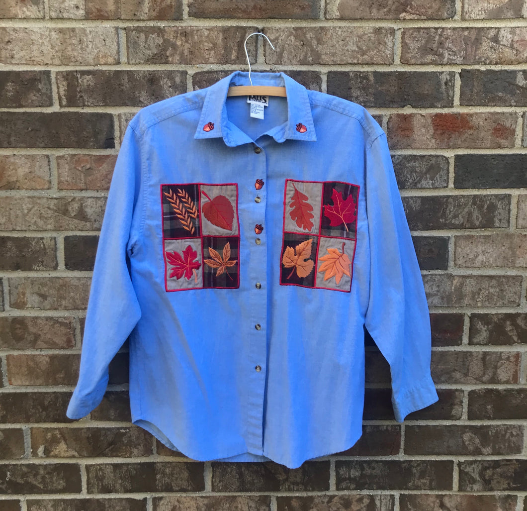 1990's Fall Patterned Shirt