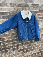 Load image into Gallery viewer, 1980's Sherpa Denim Jacket