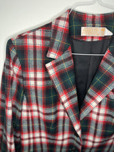 Load image into Gallery viewer, 1980's Plaid Wool Blazer