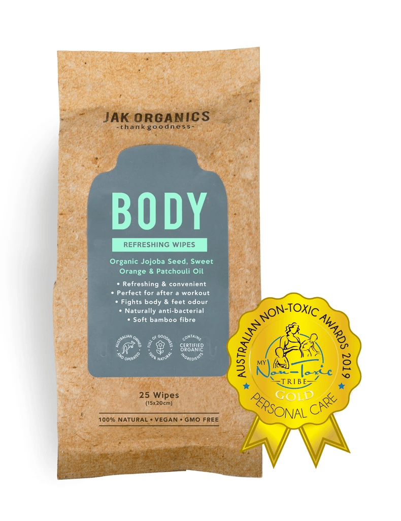BODY Wipes - Jojoba Seed, Sweet Orange & Patchouli Oil