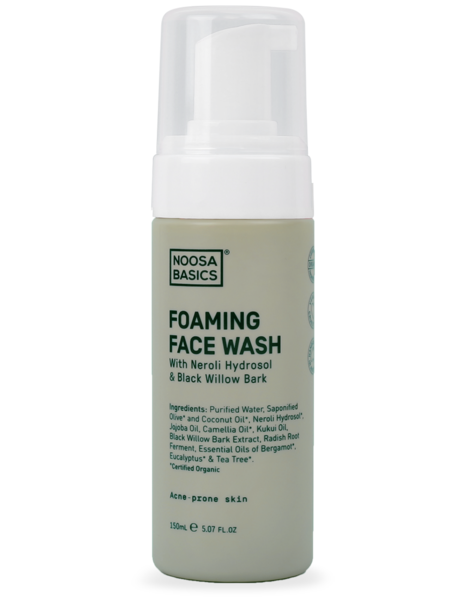 Noosa Basics Foaming Face Wash with Neroli & Black Willow Bark