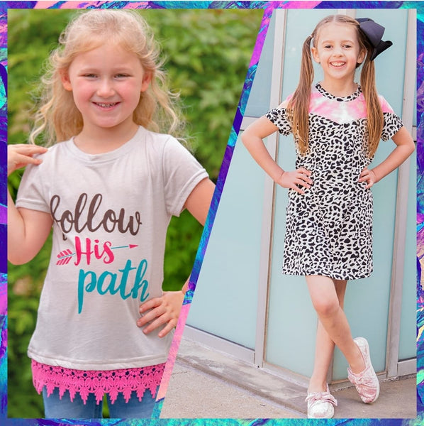 Girl's Short Sleeve Clothing