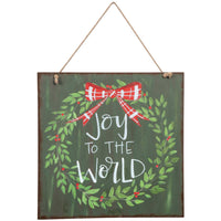 Joy To The World Door & Wall Hanging Sign
