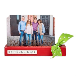 Merry Christmas Counter Card & Picture Holder