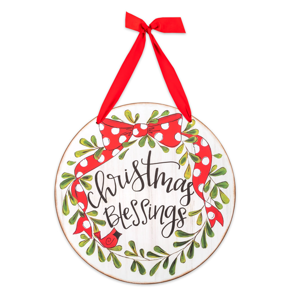 Christmas Blessings Door & Wall Hanging Sign