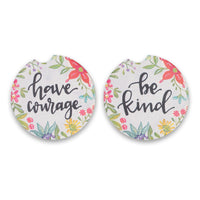 Have Courage 2 Pack Car Coaster