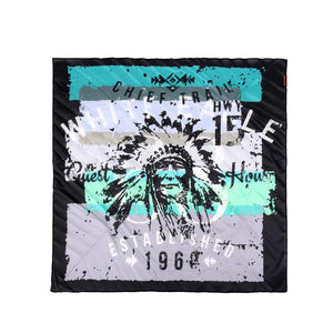 Montana West Indian Chief Print Bandana - Green & Teal