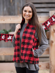 Basically a Lumberjack Buffalo Plaid Puffer Vest