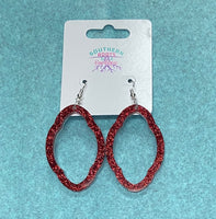Sparkly Scallop Hoop Earrings - Be A Pepper