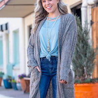 Casual-Fetti Textured Cardigan with Pockets