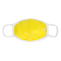 Kids Face Mask - Solid Color Double Layer with Adjustable Nose Clip - Yellow