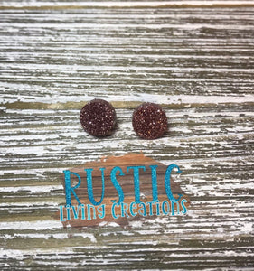 Sparkly Stud Earrings - Glitter Done