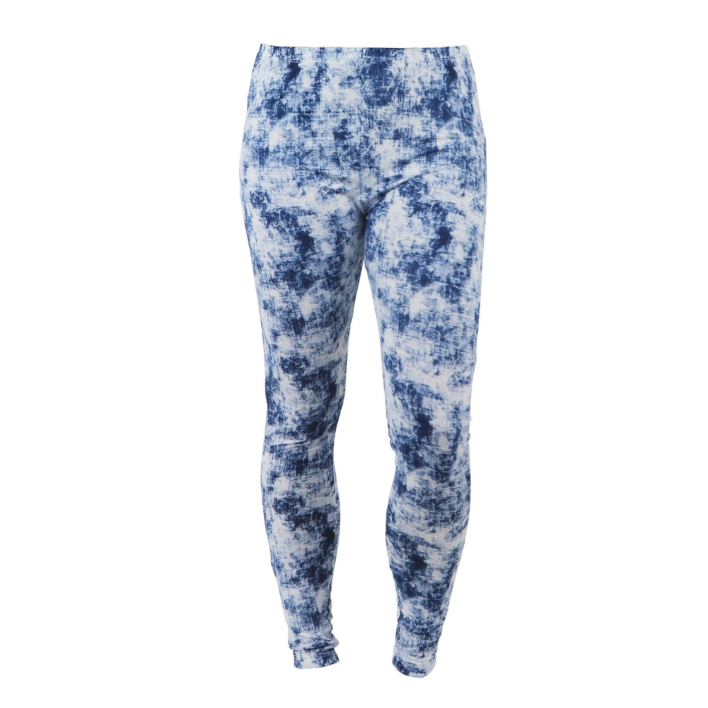 Hello Mello Lounge Luxe Leggings - Blue Distressed