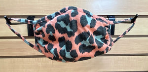Kid's Face Mask - Pink Leopard with Blue