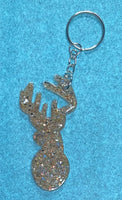 Keychain -Large Deer Head - Troubadour