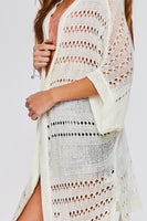 Light Open Knit Cardigan - Cream