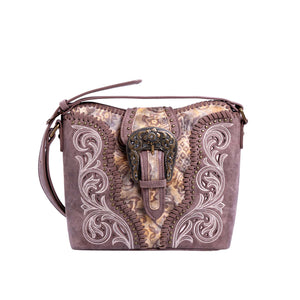 Montana West Buckle Collection Concealed Carry Crossbody Bag