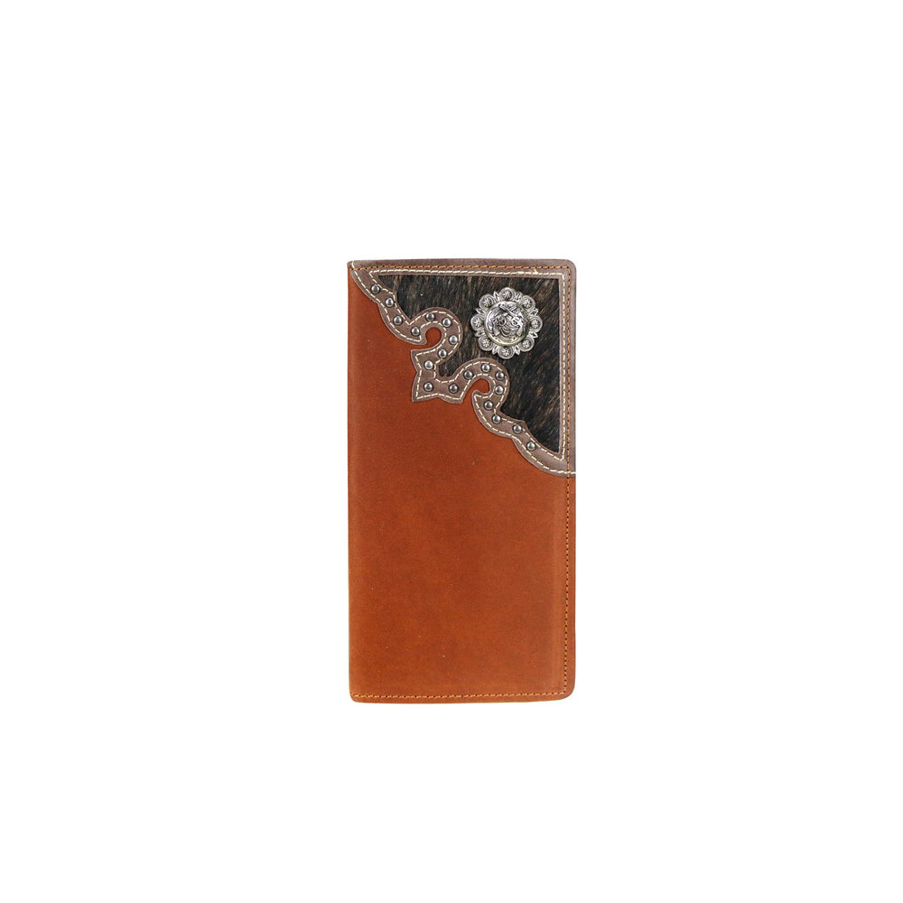 Genuine Hair-On Leather Pistol Collection Men's Wallet - Brown