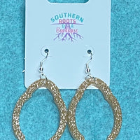 Sparkly Scallop Hoop Earrings - Stockyards