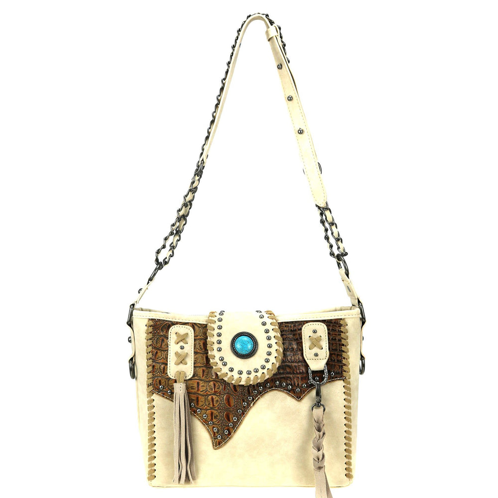 Trinity Ranch Tooled Leather Collection Concealed Carry Hobo/Crossbody