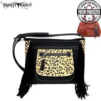 Trinity Ranch Hair-On Leather Collection Concealed Handgun Crossbody Bag