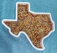 Texas Shaped Coaster - Leather Look