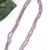 "The Essential 60"" Double Wrap Beaded Necklace, Shift 8MM - Iridescent Light Purple"