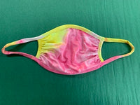 Face Mask - Pink & Yellow Tie Dye