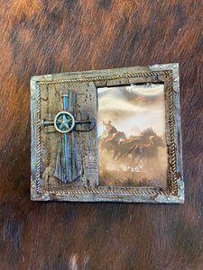 Montana West Wooden Cross Photo Frame