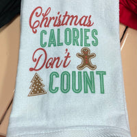 Hand Towel - Christmas Calories Don't Count
