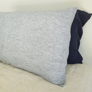Linen Pinstripe Pillowcases | Made in New Zealand