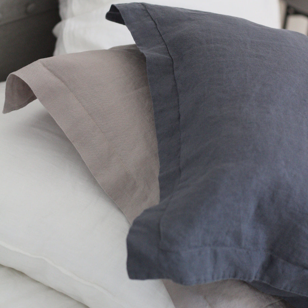 Linen Pillowcases | Steel Blue | Made in Europe