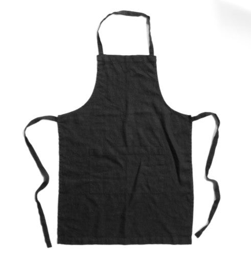 Black Linen Apron - The Foxes Den