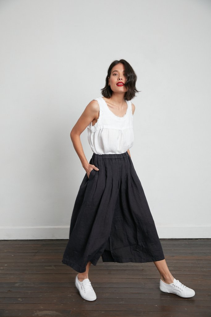 Linen Culottes | French Navy
