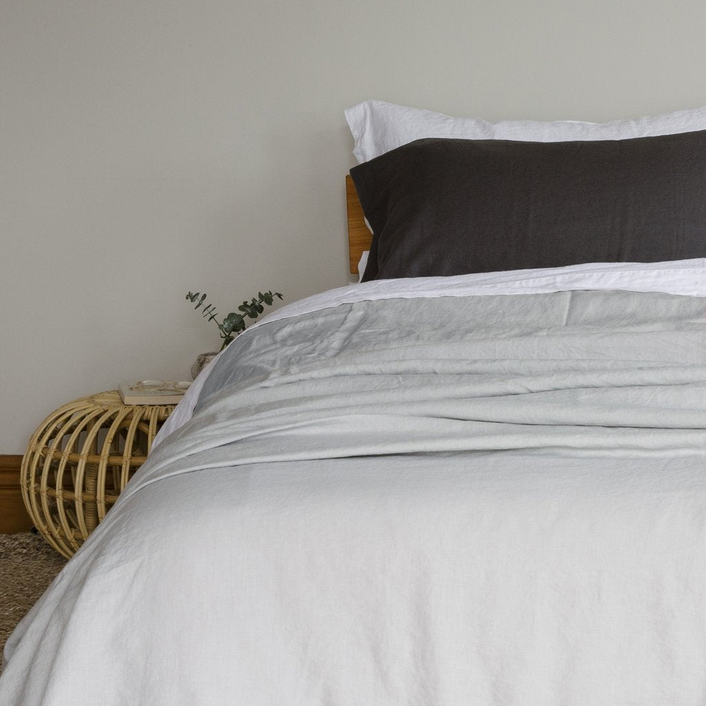 Stonewashed Linen Fitted Sheet | Dove