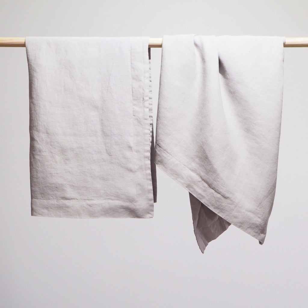 Linen Euro Pillowcase | Dove Grey | Made in Europe