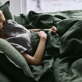 Linen Sheet Set | Forest Green