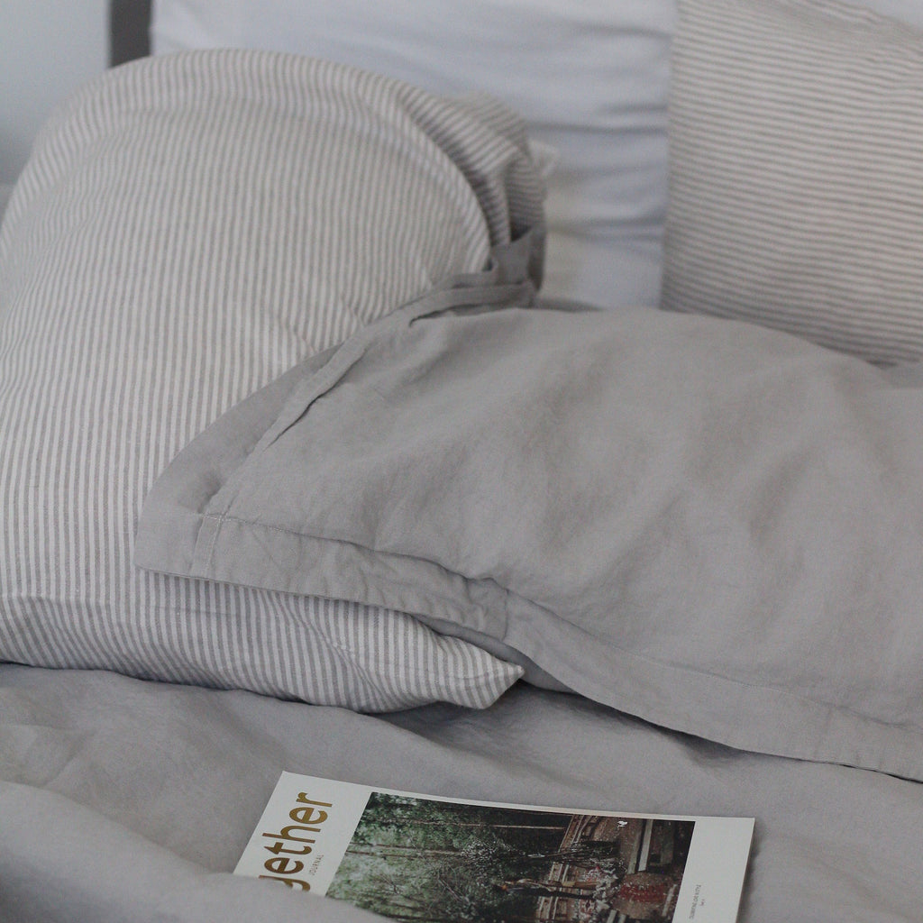 Lodge Linen Pillowcases | Dove Grey  | Made in Europe