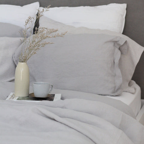 Linen Duvet Cover Set | White | Made in Europe