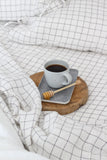 Grid Linen Duvet Cover  | European Oeko-Tex® certified