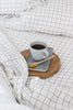 Grid Linen Duvet Cover Only | European Oeko-Tex® certified