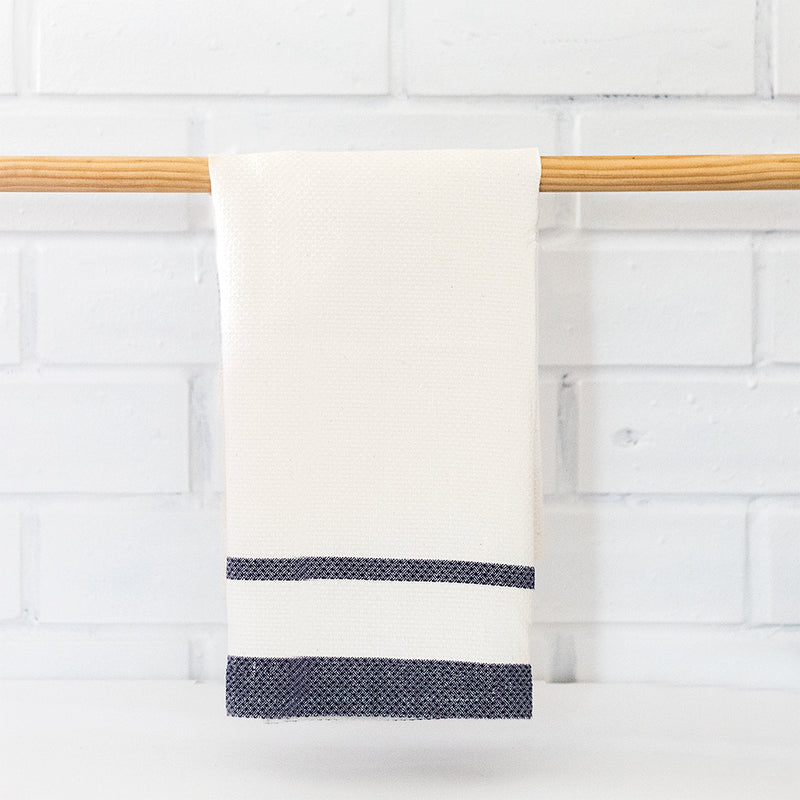 Huck Tea Towel | French Navy
