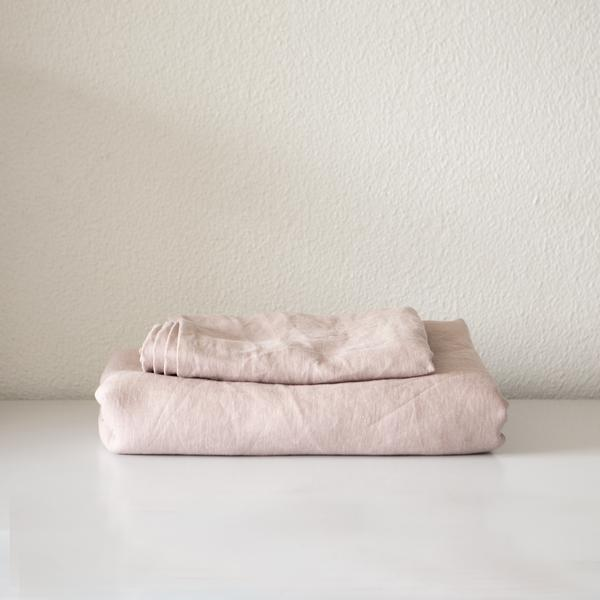 Linen Euro Cover | Dusky Pink
